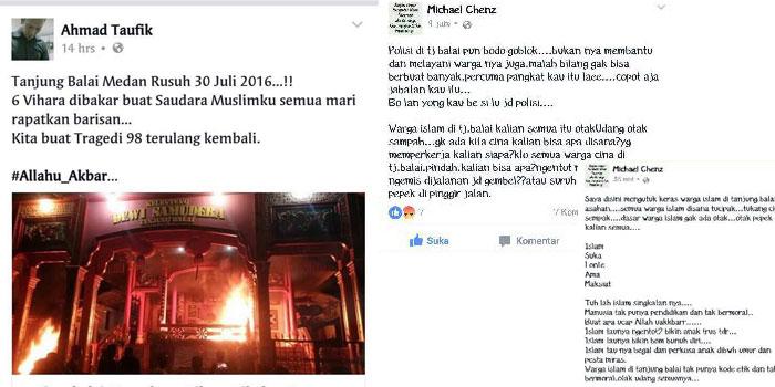 Selain Ahmad Taufiq, polisi juga melacak pengguna sosmed lain yang menyebarkan kebencian terkait kerusuhan Tanjungbalai