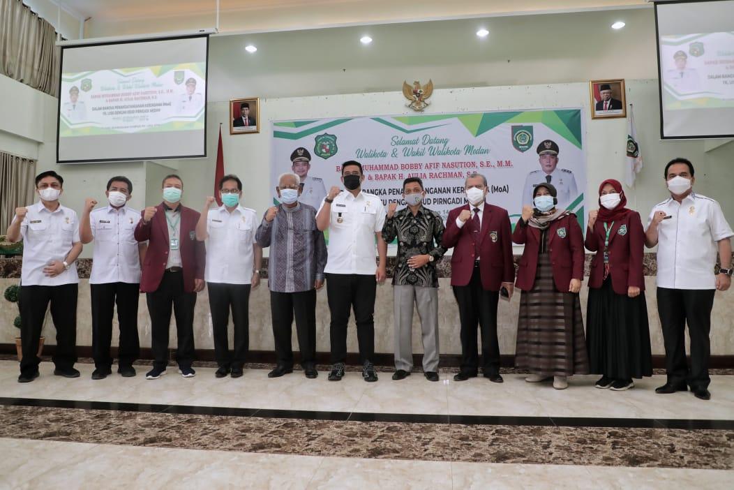 Wali Kota Medan dan Rektor UISU Tandatangani Nota Kesepahaman di Bidang Pendidikan